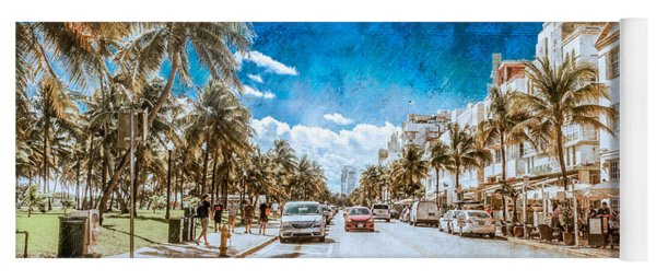 Yoga Mat featuring the photograph South Beach Road by Melinda Ledsome