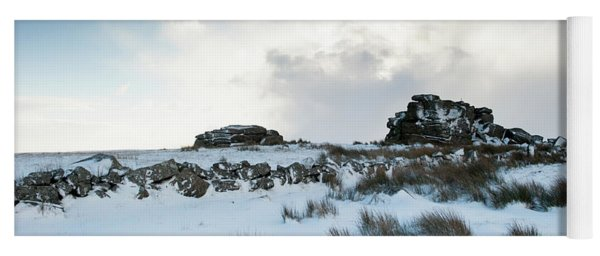 South Hessary Tor In The Snow II Yoga Mat