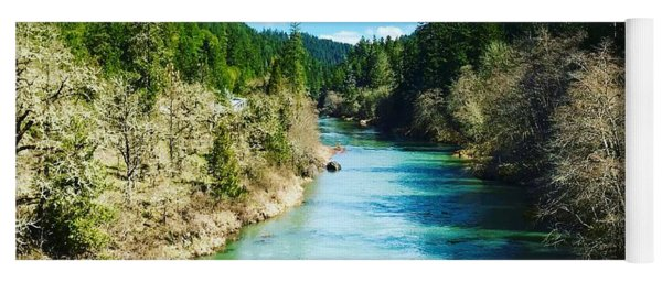 South Umpqua River Oregon  Yoga Mat