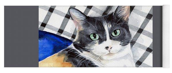 Southpaw - Calico Cat Portrait Yoga Mat