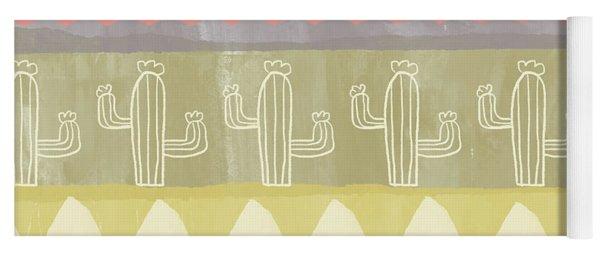 Southwest Cactus Decorative- Art By Linda Woods Yoga Mat