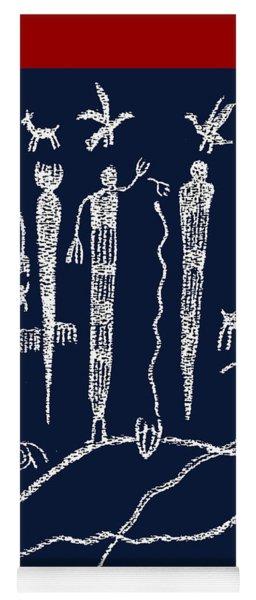 Southwest Petroglyph Shaman Ritual Yoga Mat