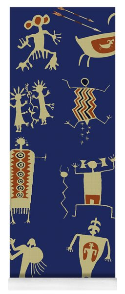 Southwest Rock Art Spirits Yoga Mat