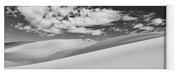 Southwest Sands Of Colorado In Black And White Yoga Mat