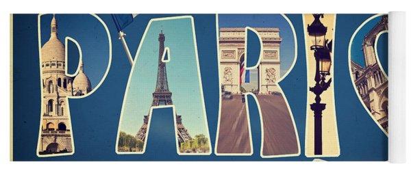 Souvernirs De Paris Yoga Mat