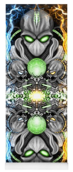 Space Alien Time Machine Fantasy Art Yoga Mat