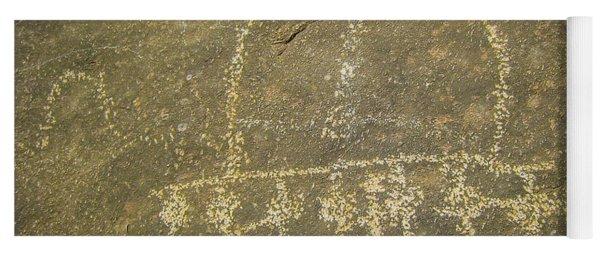Spaceship Petroglyph Yoga Mat