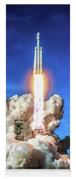 Spacex Falcon Heavy Rocket Launch Yoga Mat