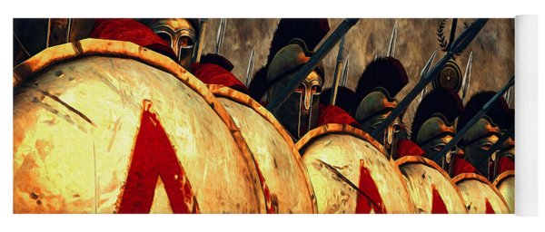 Spartan Army - Wall Of Spears Yoga Mat