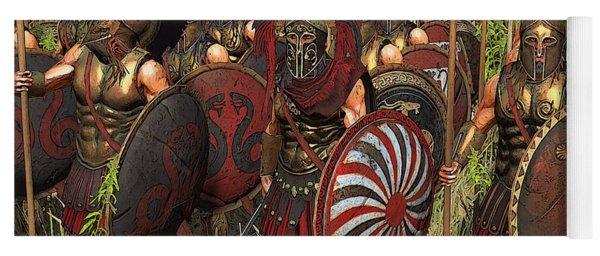 Spartan Warriors Before The Battle Yoga Mat