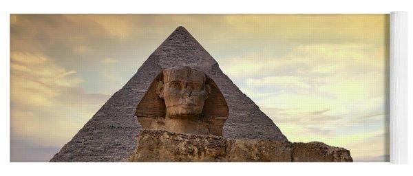 Sphinx And Pyramid At Dusk Yoga Mat
