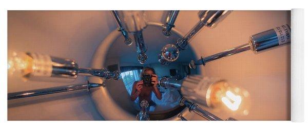 Spider Light Reflected Portrait Yoga Mat