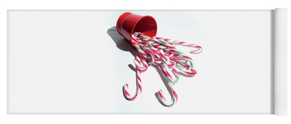Spilled Candy Canes Yoga Mat
