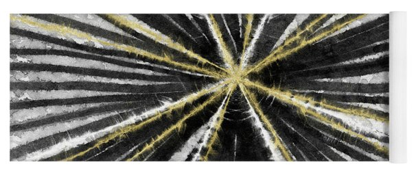 Spinning Black And Gold- Art By Linda Woods Yoga Mat