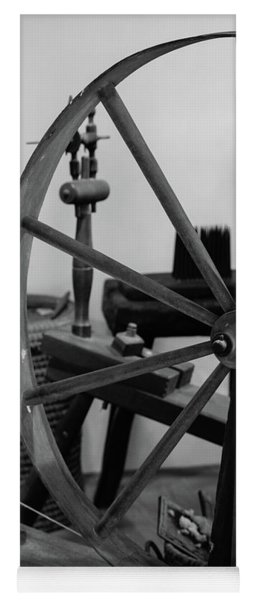 Yoga Mat featuring the photograph Spinning Wheel At Mount Vernon by Nicole Lloyd