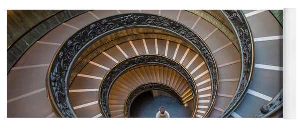 Spiral Staircase In St. Peter's Basilica Yoga Mat