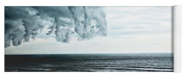 Spiraling Storm Clouds Over Daytona Beach, Florida Yoga Mat