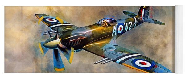 Spitfire Dawn Flight Yoga Mat