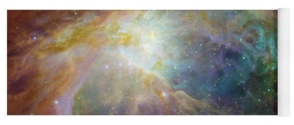 Spitzer And Hubble Create Colorful Masterpiece Yoga Mat