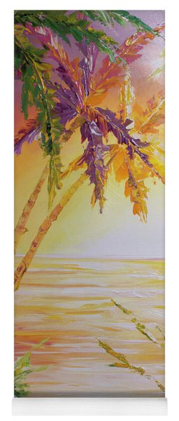 Yoga Mat featuring the painting Splash Palm by William Love