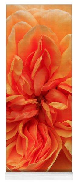 Splendiferous Apricot Rose Yoga Mat