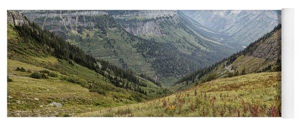 Splendor From Highline Trail - Glacier Yoga Mat