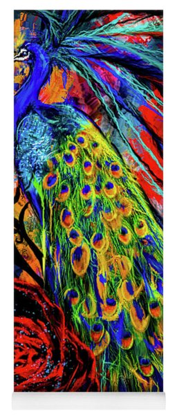 Splendor Of Love And Glory - Peacock Colorful Artwork Yoga Mat
