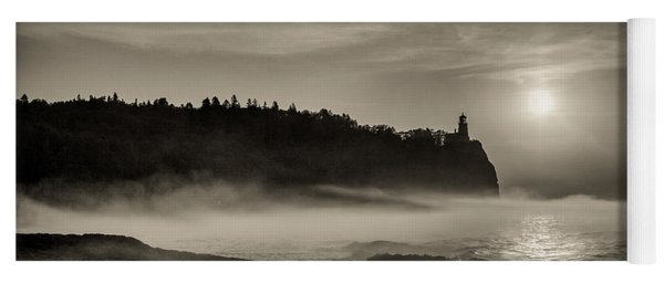 Split Rock Lighthouse Emerging Fog Yoga Mat
