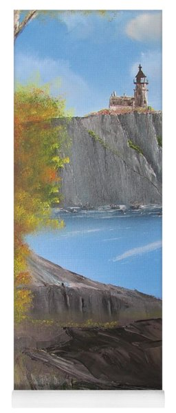 Split Rock Lighthouse Minnesota Yoga Mat