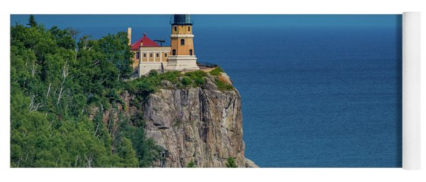 Split Rock Lighthouse View Yoga Mat