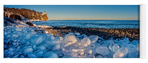 Split Rock Lighthouse With Ice Balls Yoga Mat
