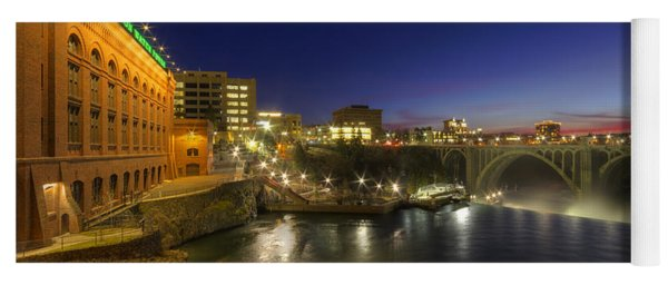 Spokane Falls At Night Yoga Mat