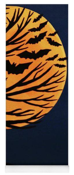 Spooky Bat Tree Yoga Mat