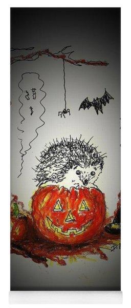 Spooky Hedgehog Halloween Yoga Mat