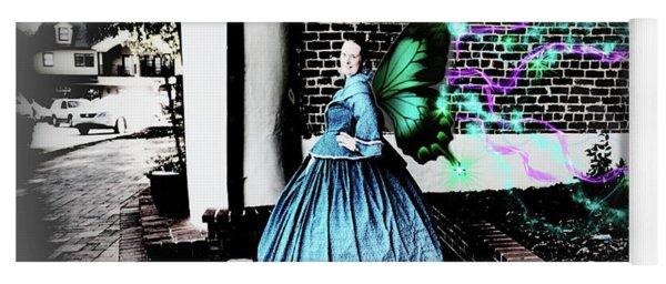 Spooky Historic Butterfly Dahlonega  Yoga Mat