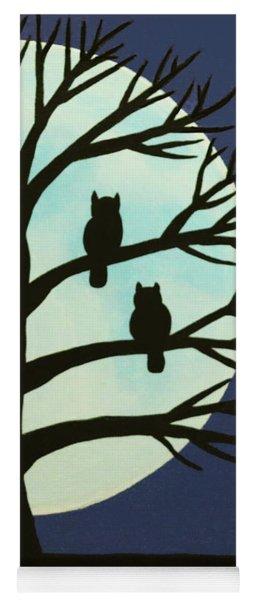 Spooky Owl Tree Yoga Mat