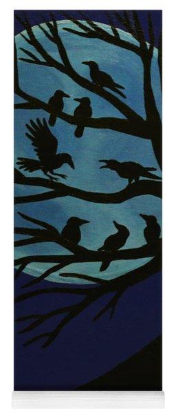 Spooky Raven Tree Yoga Mat