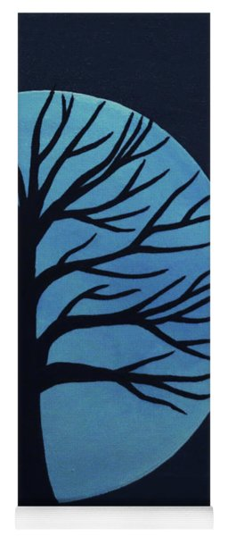 Spooky Tree Blue Yoga Mat