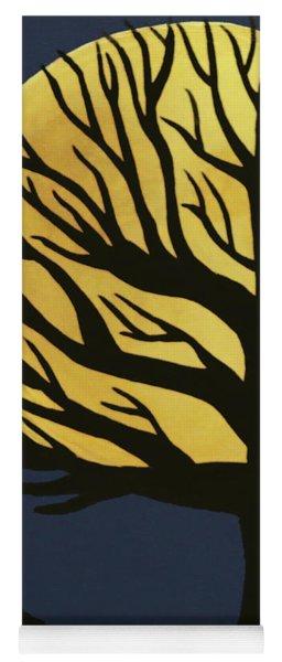 Spooky Tree Yellow Yoga Mat
