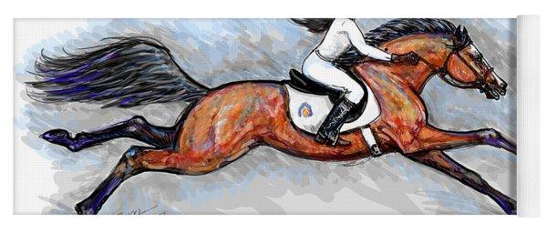 Sport Horse Rider Yoga Mat