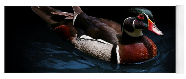 Spotlight On A Wood Duck Yoga Mat