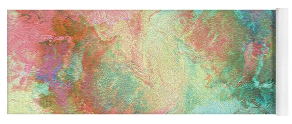 Spring Abstract Painting Yoga Mat