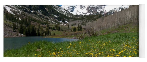 Spring At The Maroon Bells Yoga Mat