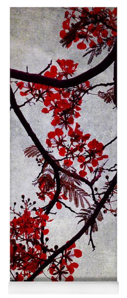 Spring Bloosom In Maldives. Flamboyant Tree II. Japanese Style Yoga Mat