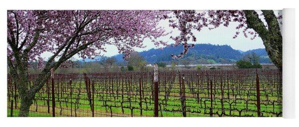 Spring Blossoms Near Calistoga Yoga Mat
