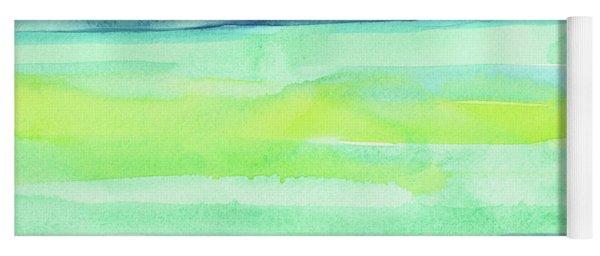 Spring Colors Pattern Horizontal Stripes Yoga Mat