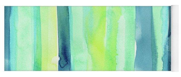 Spring Colors Stripes Pattern Vertical Yoga Mat