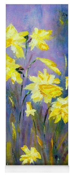Spring Daffodils Yoga Mat