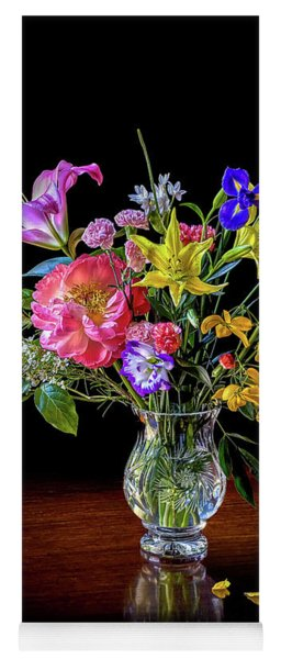 Spring Flowers In A Crystal Vase Yoga Mat