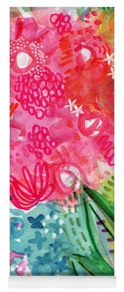 Spring Garden- Watercolor Art Yoga Mat